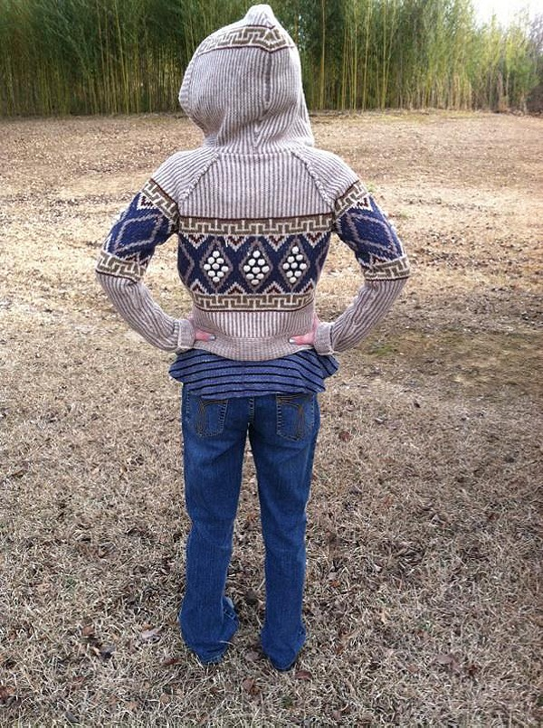 This is a GREAT outfit when you want to get your nature on!  The sweater is really warm-100% hnd-washable wool!  My lovely daughter, Maria. She is an Free People addict!