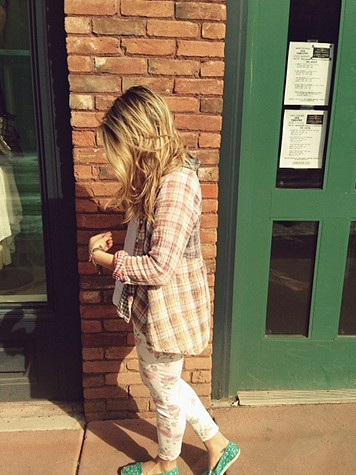 Plaid Hi Low Buttondown Tunic style pic