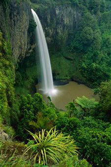 Bridal Veil Falls near Raglan, New Zealand